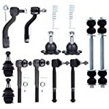 ECCPP Front Outer Inner Tie Rod End Upper Lower Ball Joint Sway Bar End Link for 1996-1999 Chevrolet K1500 Suburban 1996-2000 Chevrolet Tahoe 12pcs Es2836Rl K6335