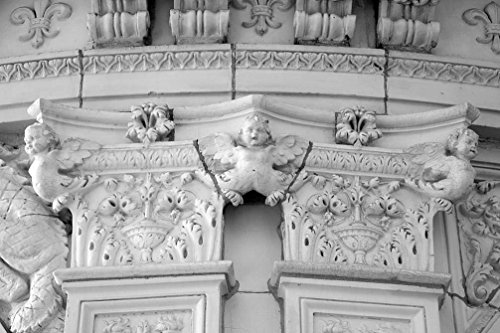 18 x 24 B&W Photo of Architectural details on apartments buildings, Connecticut Ave., NW, near downtown, Washington, D.C. 2010 Highsmith - U Downtown Ave