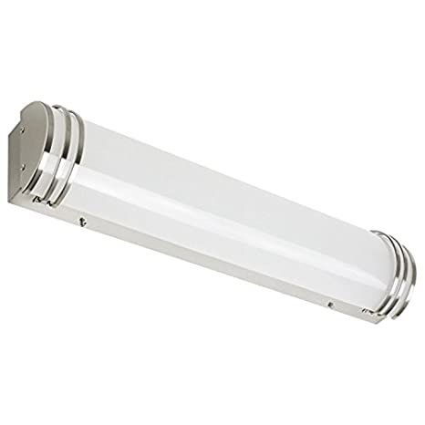 Perlite Lighting 35 Watt 2500 Lumens 48u0026quot; Inches 4000k LED Brushed  Nickel Bath Vanity