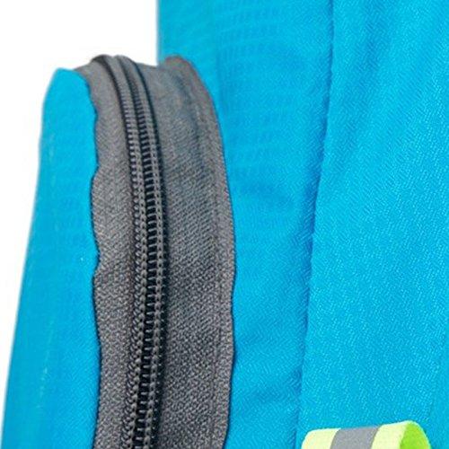 Vin beauty Unisexo Deportes al aire libre impermeable Plegable Mochila de senderismo colores Bolsa de viaje Negro #3