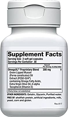 OmegaXL 2 pack All-Natural Powerful Omega-3 Health Supplement with DHA and EPA to Help Relieve Joint Pain Due to Inflammation