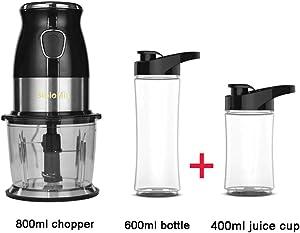 500W Portable Personal Blender Mixer Food Processor with Chopper Bowl 600ml Juicer Bottle Meat Grinder Baby Food Maker