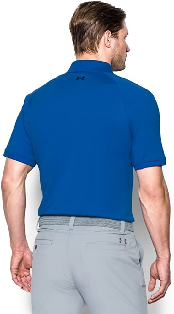 Under Armour Mens Performance Cotton Polo, Blue Marker (789 ...