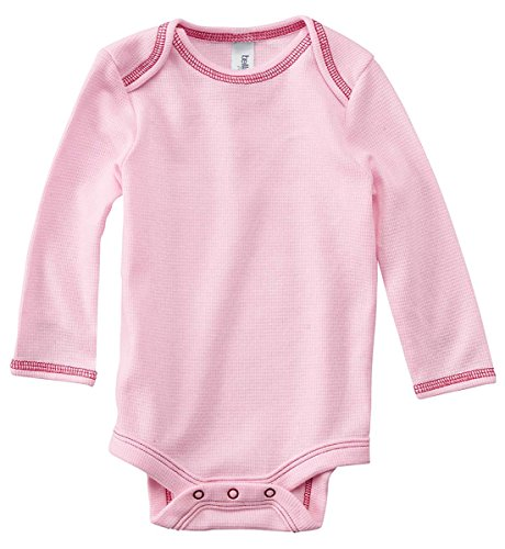Bella Canvas Infant Long-Sleeve Thermal One-Piece - SOFT PINK/RSP - (Bella Long Sleeve Onesie)