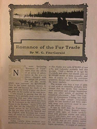 1908 Romance of the Fur Trade Hudson Bay Company Alaska Canada illustrated ()