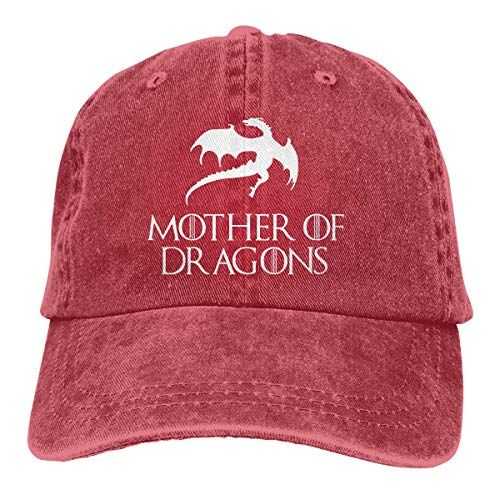 (Syins Customized New Way 691 - Women's Long Sleeve T-Shirt Mother of Dragons Game of Thrones Targaryen Fashion Hip-pop Caps for Mens Red)