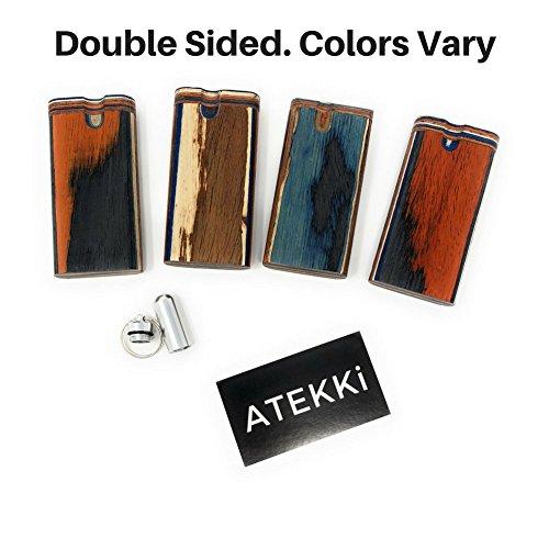 ATEKKi Wood Box with Keychain Stash and ATEKKi Card (4
