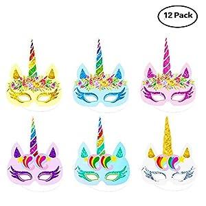 Lemoncy Gold Horn Headband Ears Photo Props Girl Birthday Outfit Cheeks Gold Glitter Horn Headband Flowers Headwear…