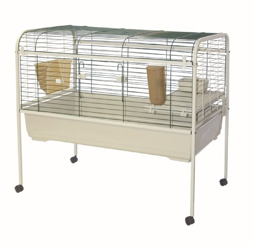 Marchioro Susan 102 Cage for Small Animals with Wheels, 40.25 inches, Beige/Green by Marchioro