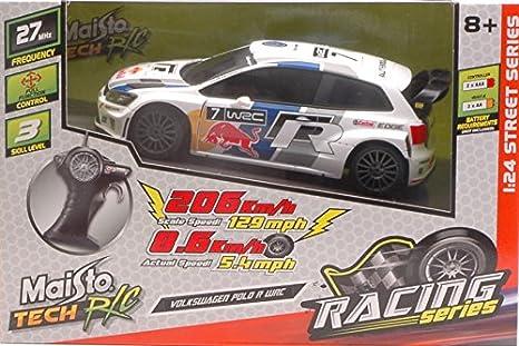 VW Polo R WRC N.7 Red Bull radiocontrol 1: 24 - Bujía incandescente - Maisto - Die Cast - Modelo: Amazon.es: Juguetes y juegos