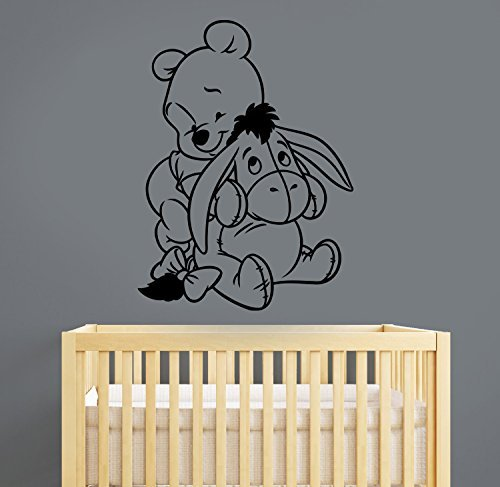 Winnie The Pooh Eeyore Vinyl Wall Decal Sticker Disney Movie Art Decorations for Home Kids Boys Room Bedroom Nursery Decor wtpo6