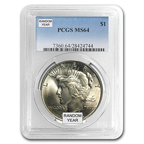 1922-1925 Peace Dollars MS-64 PCGS $1 MS-64 PCGS