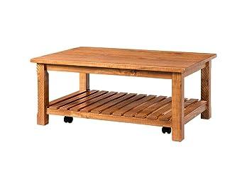Amazon Com Coffee Table 42 Inch Solid Wood Coastal Farmhouse