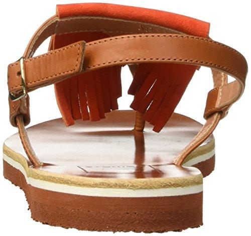 Kallisté 5668 - Sandalias de cuña Mujer Naranja