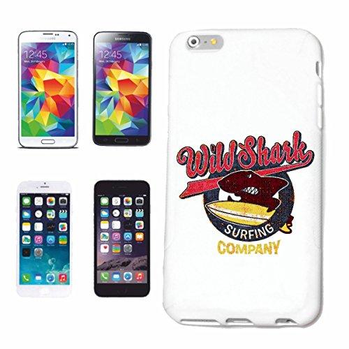 """cas de téléphone iPhone 6S """"WILD SHARK SURFING SURF BEACH SURFBOARDS LONGBOARD ONDES SURF Beginner Shop"""" Hard Case Cover Téléphone Covers Smart Cover pour Apple iPhone en blanc"""