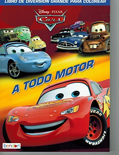 Disney Cars Coloring Book Set (2 Books Featuring Lightning McQueen - 96 Pages, Int. Ed.) (Pixar Sticker Lightning Mcqueen Cars)