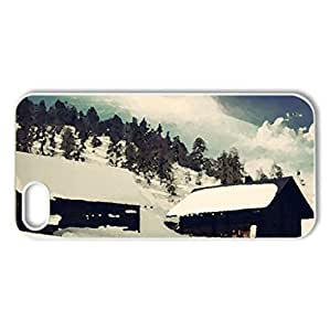 Dreamy Landscape - Case Cover for iPhone 5 and 5S (Winter Series, Watercolor style, White)