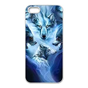 EZCASE Wolf Howling Phone Case For iPhone 5,5S [Pattern-4]