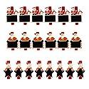 Fityle 約20個 クリスマスのデザイン ウッド クリップ 写真 紙ペグ クラフト デコレーションの商品画像