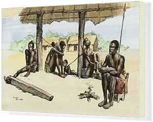 Impresión de Lienzo de esclavos africanos cobertizo en la cuenca ...