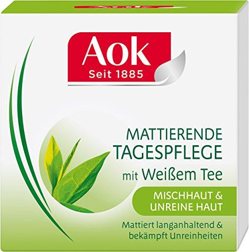 Aok Mattierende Tagespflege mit weißem Tee, 3er Pack (3 x 50 ml)