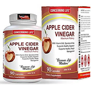 Amazon.com: Apple Cider Vinegar Capsules Complex - Apple