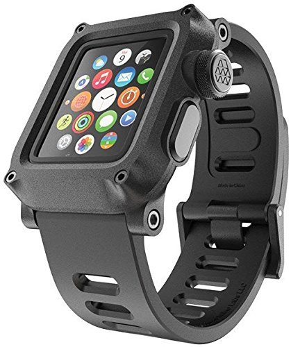 huge selection of 25303 84bc3 LUNATIK EPIK H20 Waterproof Polycarbonate Case and Silicone Strap for Apple  Watch Series 1, Black/Black