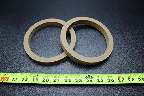 2 MDF Speaker Ring Spacer 5.25 INCH Wood 3/4 Thick Fiberglass Box Ring-5.25R (Fiberglass Speaker Box)