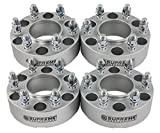 Supreme Suspensions - (4pc) 1999-2016 GMC Sierra 1500 2'' Hub Centric Wheel Spacers 6x5.5'' (6x139.7mm) with Lip + M14x1.5 Studs [Silver]