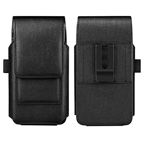 iPhone Xs Max Belt Clip Case, Mopaclle Leather Holster Case Carrying Pouch & Belt Loop Holder Cover with ID Card Slot for iPhone Xs Max/iPhone 8 Plus/ 7 Plus (Fits ()