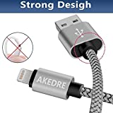 Phone Cable .4Pack (3/6/6/10FT) Nylon Braided USB Charging .& Syncing Cord Compatible Phone. X/8/8 Plus/7/7 Plus/6s/6s Plus/SE/IPad iPod Nano(Grey)