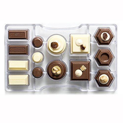 Decora el Chocolate Molde geométrica, de policarbonato, Transparente, 200 x 120 x 22 mm: Amazon.es: Hogar