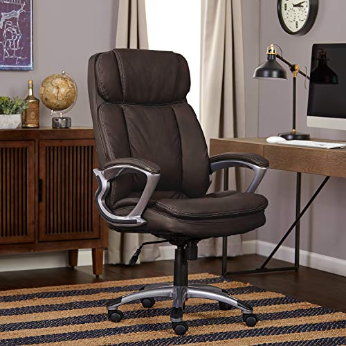 Serta 43675A Executive Office Chair, Big & Tall, Chestnut