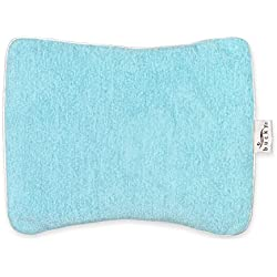 Bucky Compact Wrap, Hot/Cold Therapy, All Natural Buckwheat Seed Filling, Removable Cover, Adjustable Filling - Aqua