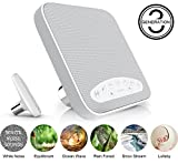 #6: White Noise Machine sleep - Portable Sound Machine with 6 Natural Sound Options, Shut-Off Timer & Headphone Jack, Idea for Tinnitus Sufferers, Light-sleepers & Infants etc. by HANPURE