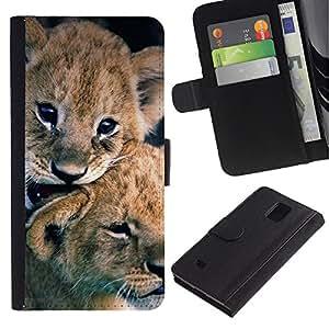 iBinBang / Flip Funda de Cuero Case Cover - Cachorro de piel del bebé Naturaleza Animal - Samsung Galaxy Note 4 SM-N910