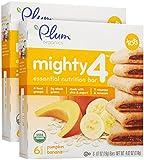 Plum Organics Tots Mighty 4 Bars - Pumpkin Banana - 4.02 Oz - 2 Pk