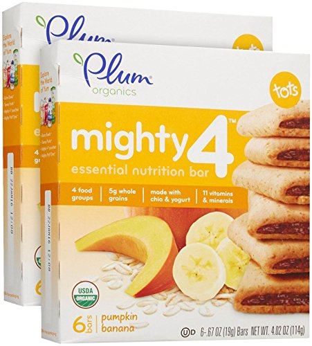 Plum Organics Tots Mighty 4 Bars - Pumpkin Banana - 4.02 Oz - 2 Pk