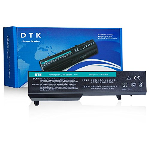 Dtk New High Performance Laptop Battery for Dell Vostro Pp36s Pp36l 1320 2510 1310 1510 1520 Series, Fits P/n K738h T112c T114c T116c U661h N958c 312-0725 - 12 Months Warranty [Li-ion 6-cell 11.1v 5200mah/56wh] (Type K738h compare prices)