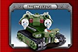 Red alert 3.0 81002 262pcs 3D construction educational plastic Building Blocks Sets Military Army Tesla Tank children toys Gifts Green