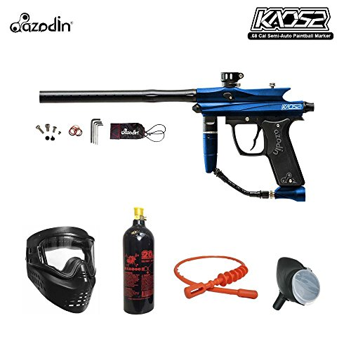 Azodin Kaos 2 Bronze Paintball Gun Package - Blue / Black