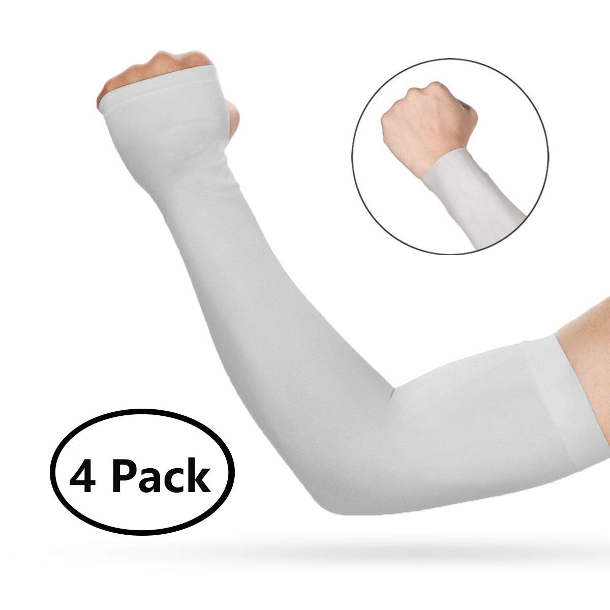 Compression Sports Arm Sleeve 99% UV Protection for Golf Weight Training Basketball Cycling Pain Injury Recovery, Helps protect arms from abrasions blisters and chaffing B (2 Pairs)
