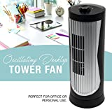 Oscillating 12 Inch 2 Speed Desktop Tower Fan Personal Use for Home or Office