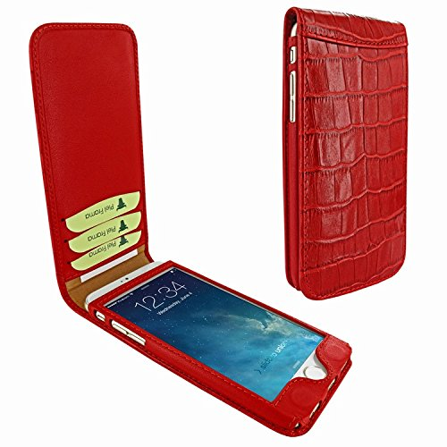 Piel Frama 689 Red Crocodile Magnetic Leather Case for Apple iPhone 6 Plus / 6S Plus by Piel Frama