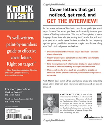 Knock \'em Dead Cover Letters: Cover Letters and Strategies ...