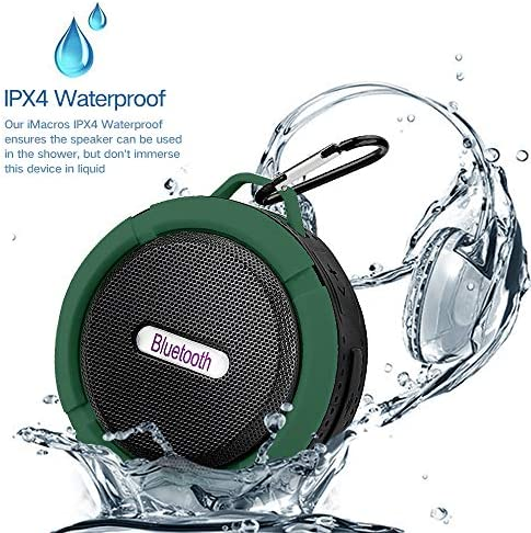 15Hour Mini Shower Travel Speaker Suction-Cup Upgrade KEROLFFU Enhanced Bass,Wireless Portable Built-in Mic for Sports Pool Beach Hiking Camping Outdoor Waterproof Bluetooth Speaker