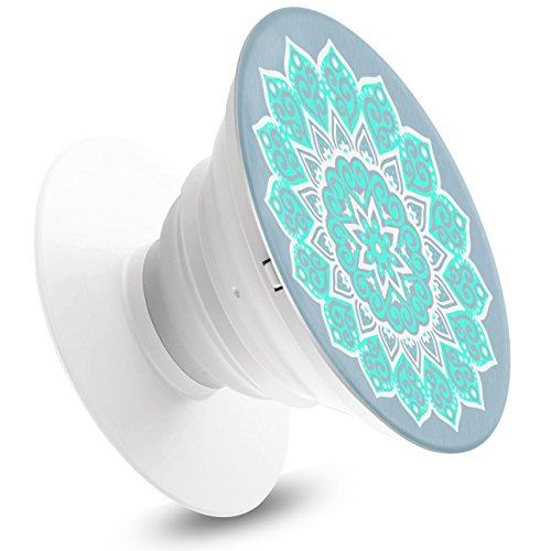 Cell Phone Holder - ISDOO Expanding Stand and Grip for Universal Smartphones and Tablets - [Sky Blue Mandala]