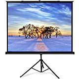 PERLESMITH Projector Screen with Stand - 100 Inch 4:3 Indoor Outdoor Height Adjustable Projection Screen - Premium Wrinkle-Free Foldable Screen W/Tripod - Easy to Clean, 1.2 Gain, 160° Viewing Angle