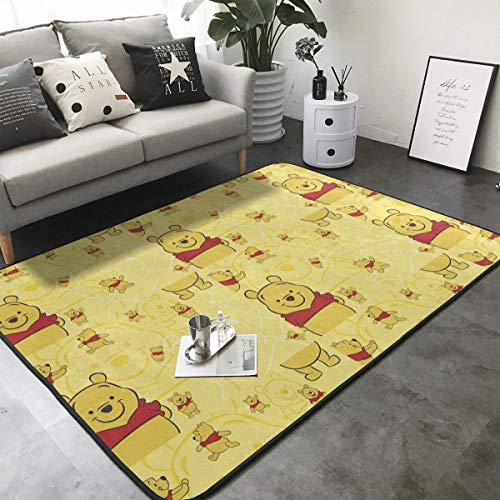 Xzcxyadd Super Soft Indoor & Outdoor Modern Winnie Pooh Area Rugs,Suitable for Children Bedroom Home Decor Nursery Rugs- 80 X 58 in