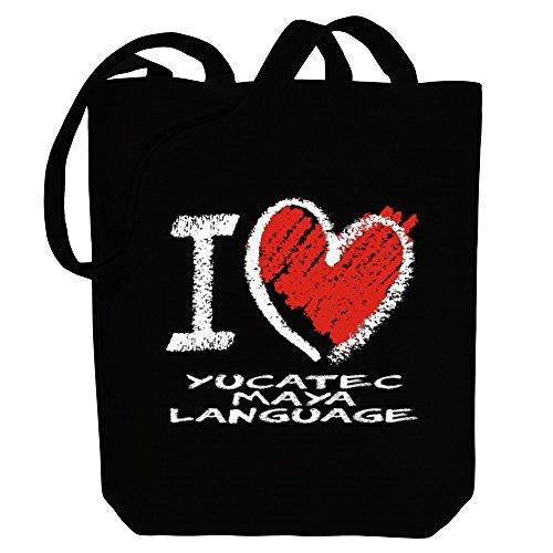 Bag chalk Maya Languages Tote Idakoos Yucatec I language style Canvas love RvwfTBp